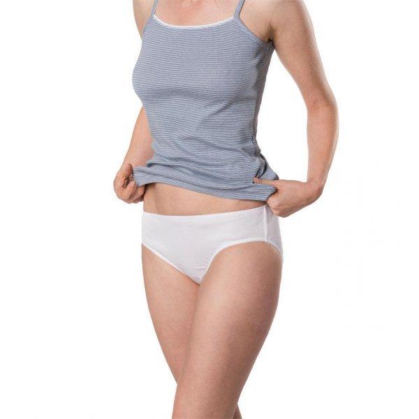 Woman mid rise slip in organic cotton -  2 pc