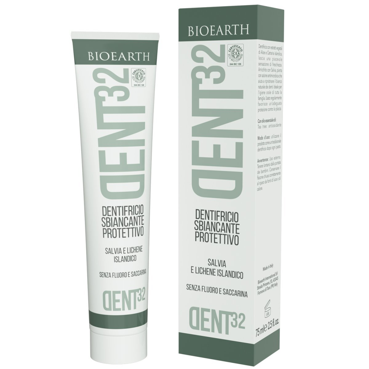 Bioearth Toothpaste whitening and protective