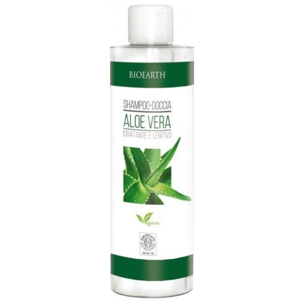 shampoo and shower gel with Aloe Ver
