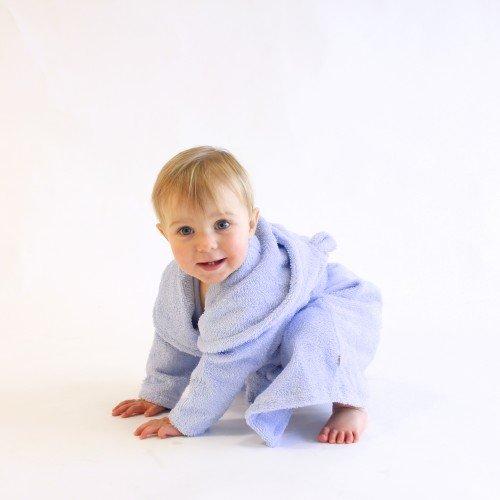 Accappatoio Baby con cappuccio orecchie Popolini cotone biologico