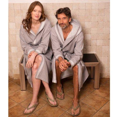 Adults Spa bathrobe in organic cotton