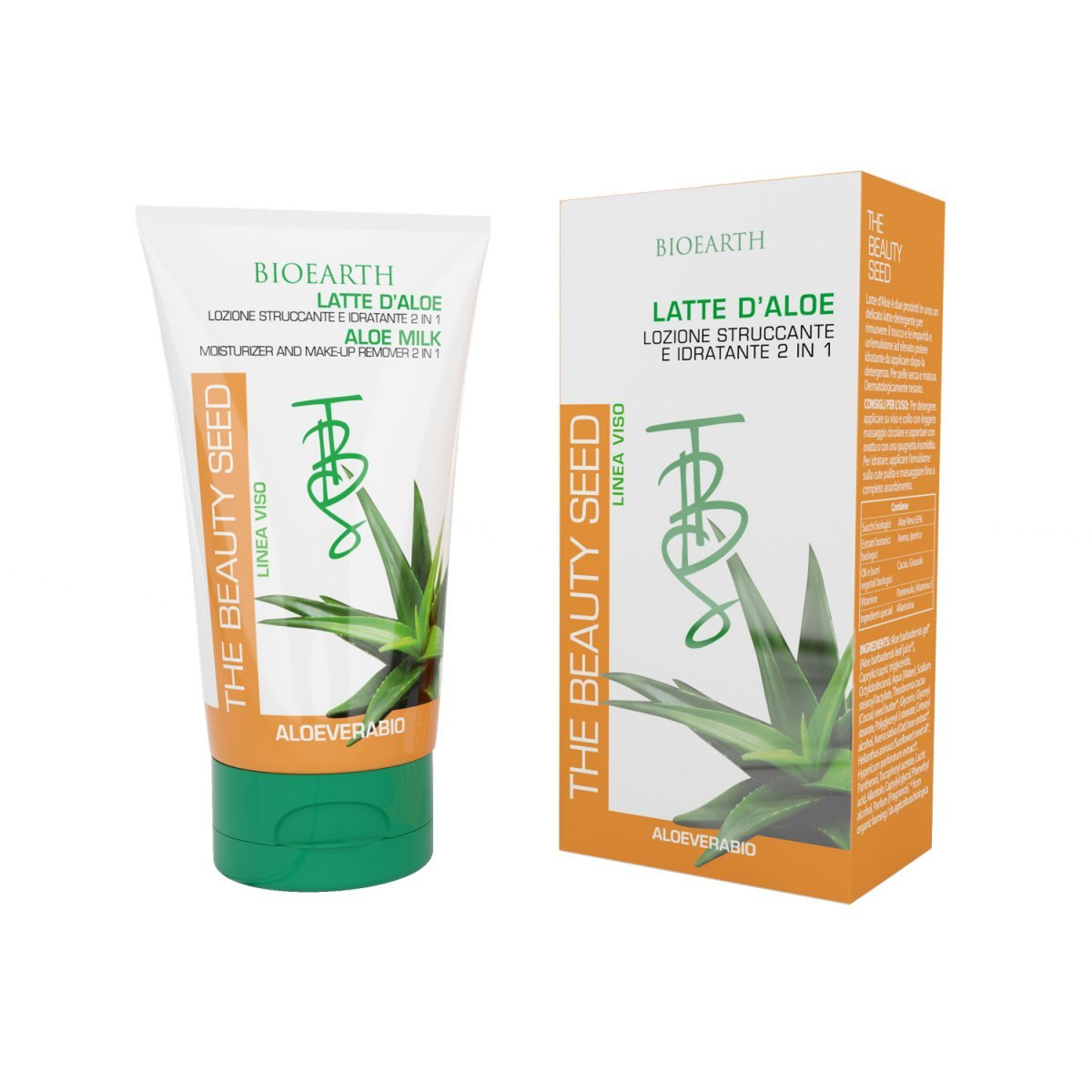The Beauty Seed Aloe Milk moisturizer and make-up remover