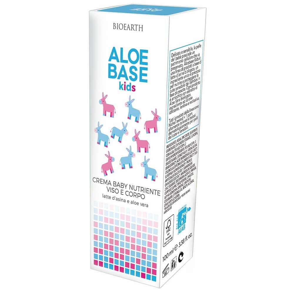 AloeBase Kids Crema Baby Nutriente Viso e Corpo Aloe e Latte d'Asina