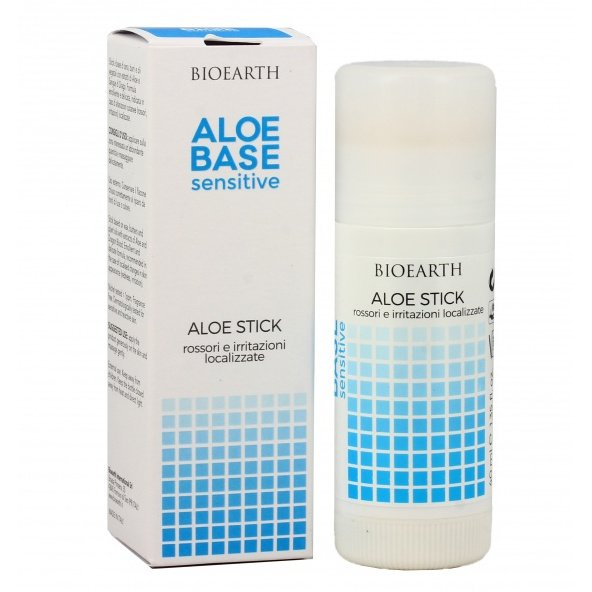 AloeBase Sensitive Aloe Stick reddened and irritated skin areas