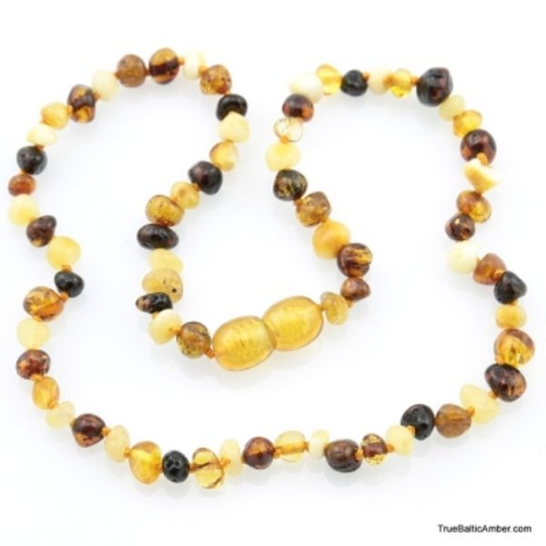 Amber necklace beads Multicolor
