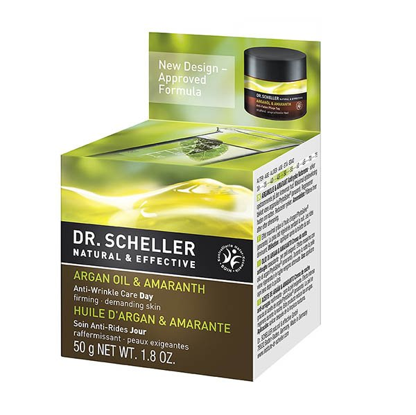 Anti wrinkle care day cream with organic Argan Oil and Amaranth - Dr. Scheller