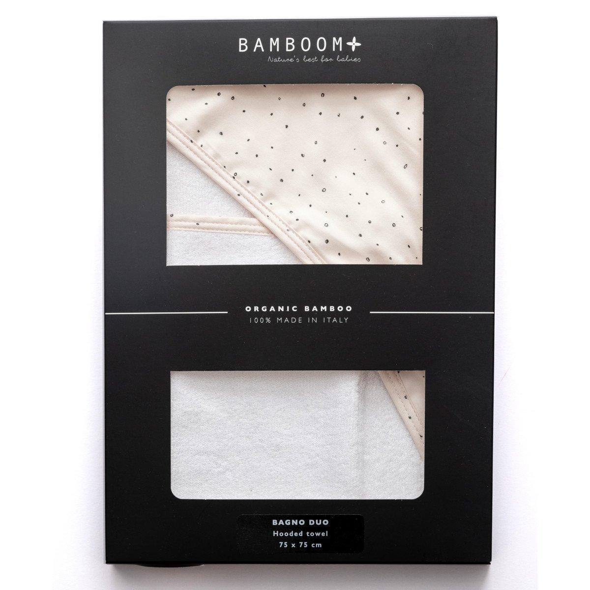 Asciugamano con cappuccio e manopola Bubbles in Bamboo organico