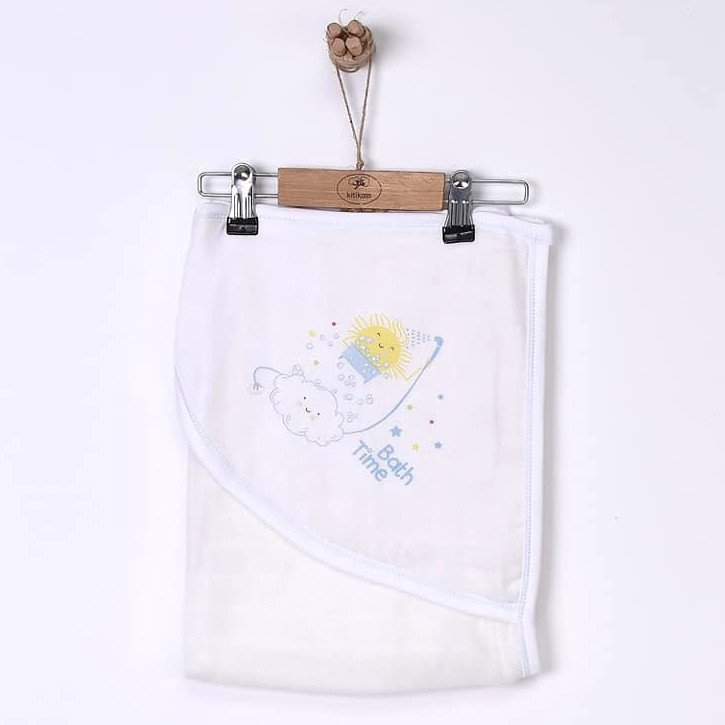 Asciugamano con cappuccio in mussola di cotone biologico
