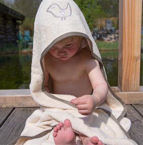 Asciugamano Baby con cappuccio in cotone bio