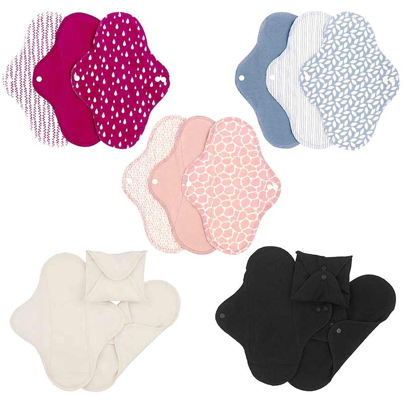 Assorbenti lavabili Regular cotone biologico 3 pz