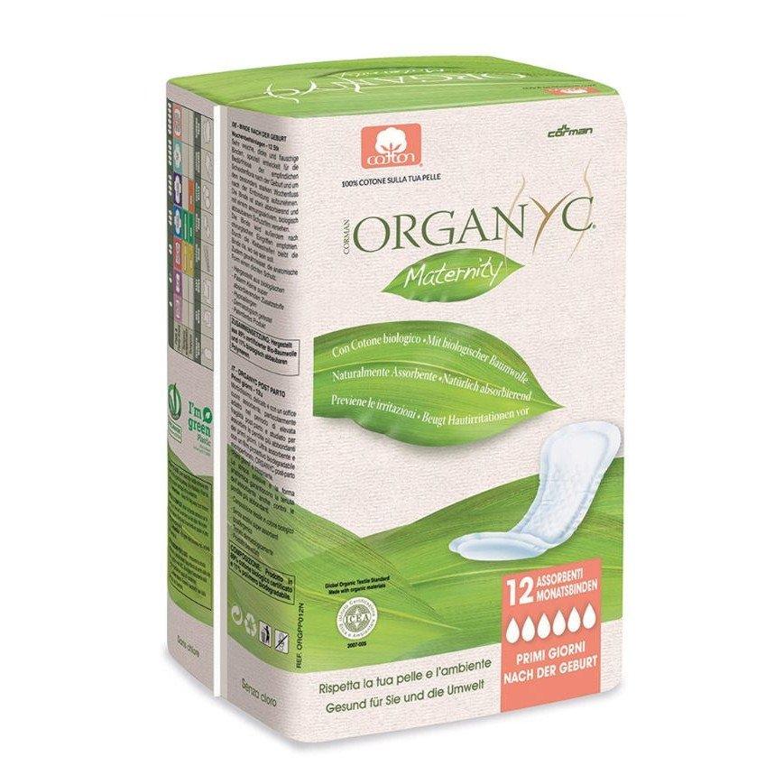 Assorbenti post parto Organyc in cotone biologico Vegan