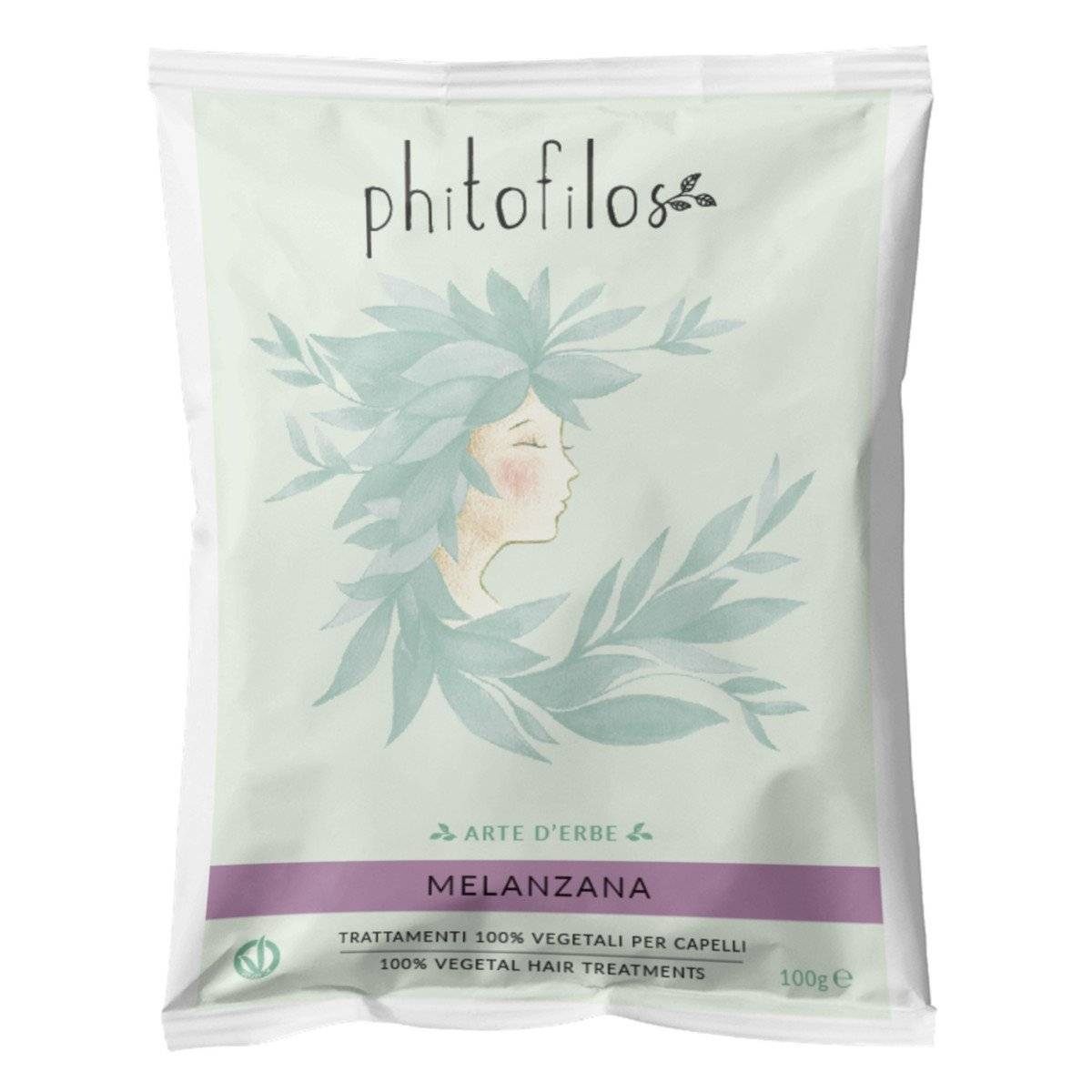 Aubergine natural hair dye Phitofilos