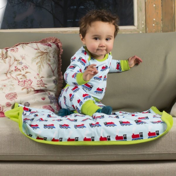 Blanket Train in organic cotton