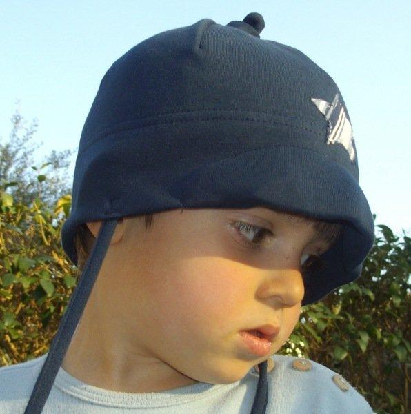 Baby bonnet Blue star in organic cotton
