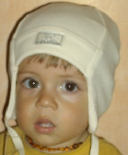 Baby bonnet Emil in organic cotton
