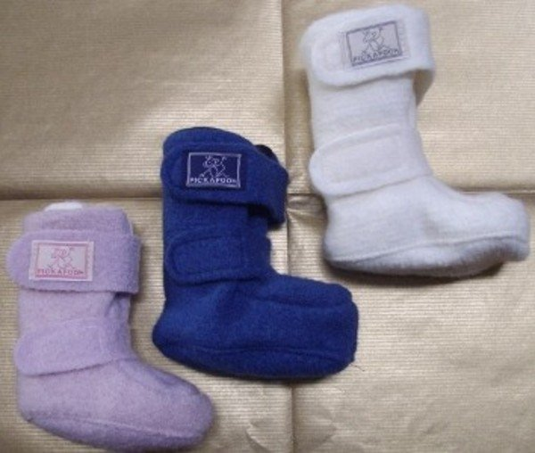 Baby boots in wool and organic cotton