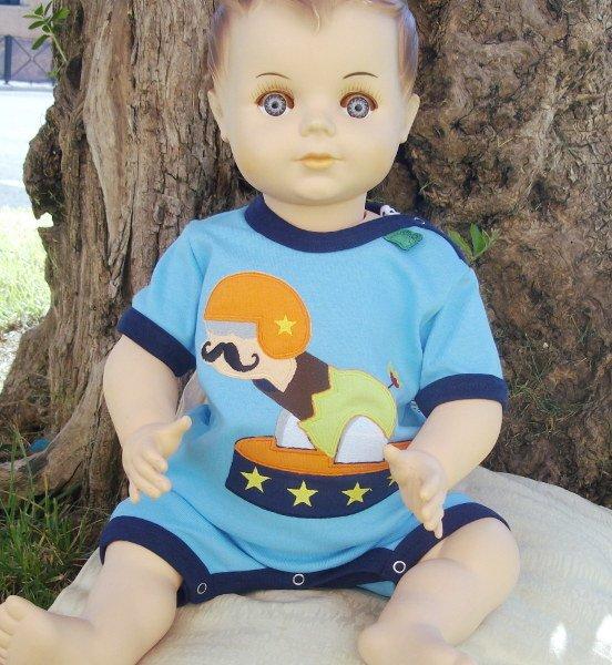 Baby boy romper cannon man