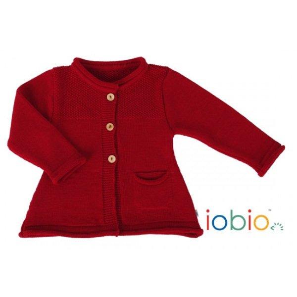 Baby cardigan Popolini in organic wool