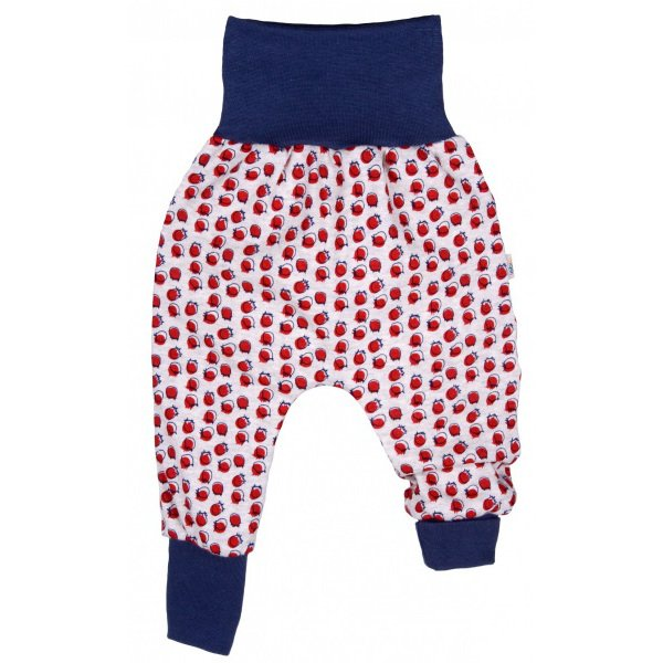 Baby crawlers cranberry in organic cotton interlock