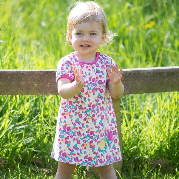 Dress Tulip baby girl in organic cotton