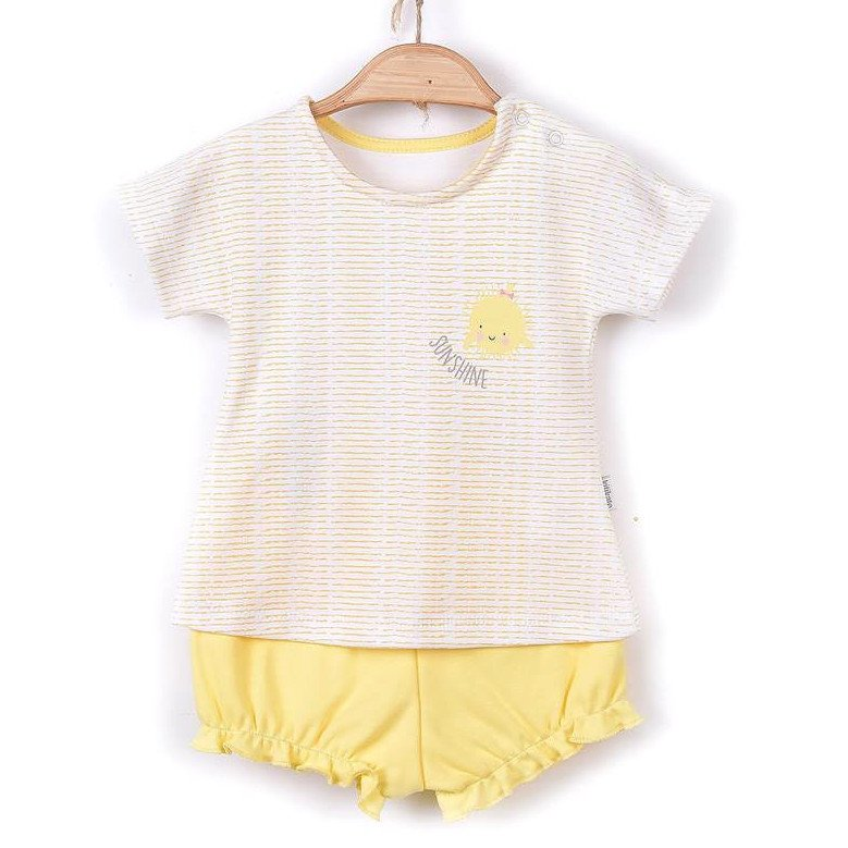Baby girl summer set in organic cotton