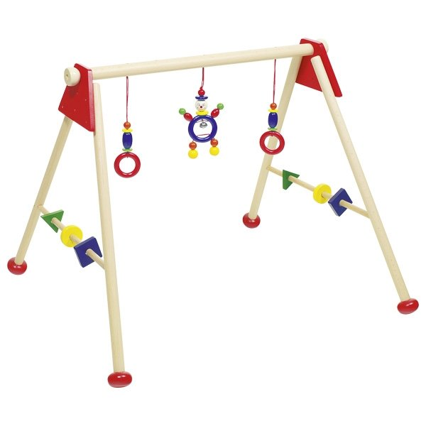 Baby gym and play trainer red