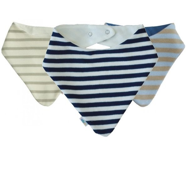 Baby hankie bib in organic cotton