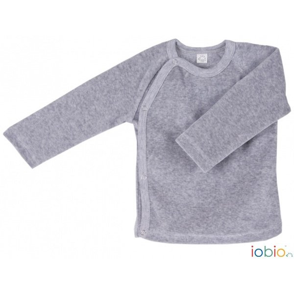 Baby long sleeve kimono shirt in organic cotton chenille