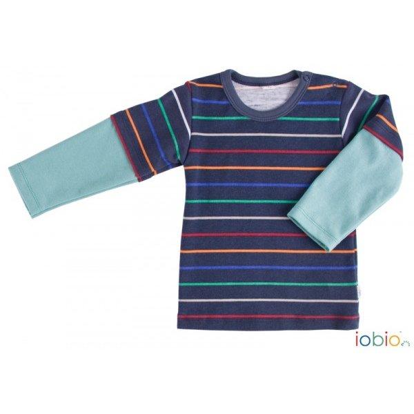 Baby striped shirt Popolini in organic cotton