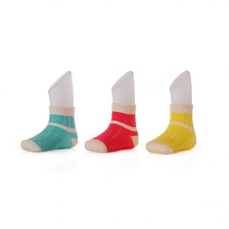 Baby socks striped in bamboo
