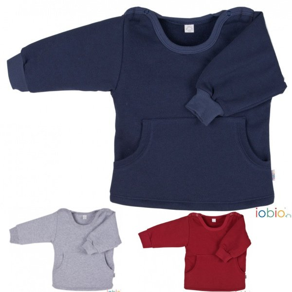 Baby blue sweat shirt Popolini in organic cotton