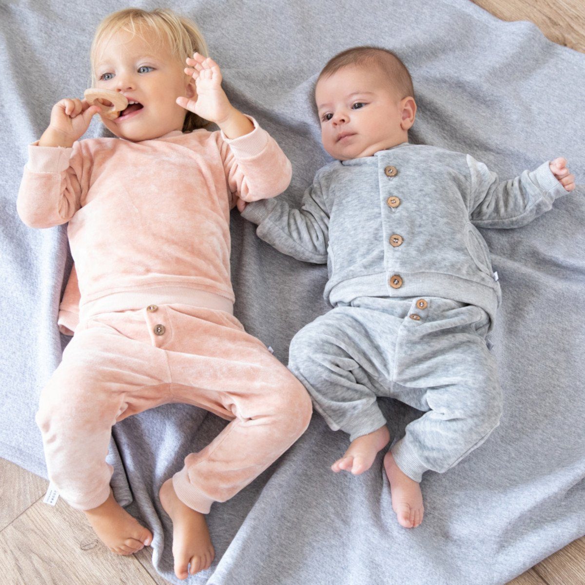 Baby trousers in organic bamboo chenille