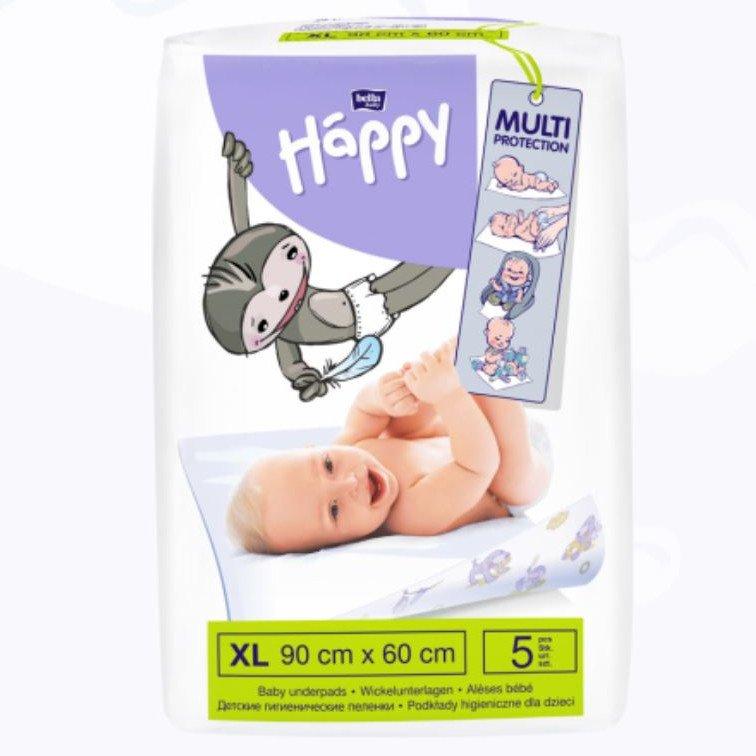 Baby underpads 90x60cm Happy Bella Baby - 5 pcs