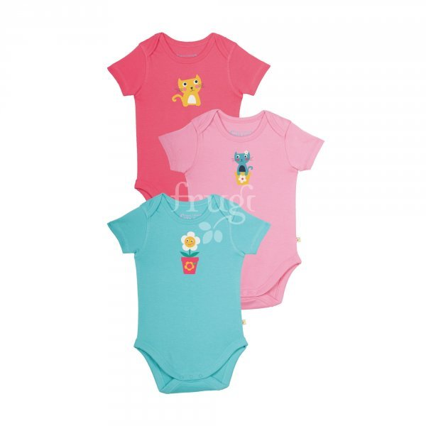 Body Frugi girl in organic cotton - 3 pieces