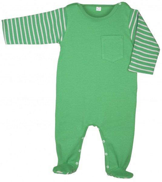 Babysuit green in organic cotton