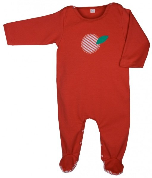 Babysuit red in organic cotton