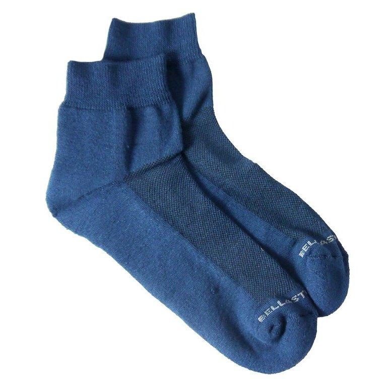 Bamboo ankle sponge socks blue