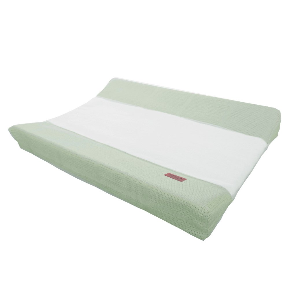 Bamboo changing mat cover green/white