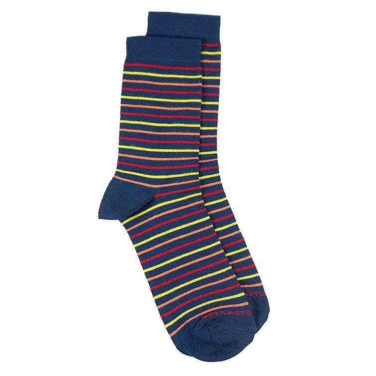 Bamboo midcalf socks red-orange-yellow stripes