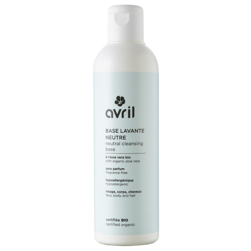 Base lavante neutra senza profumi per viso, corpo, capelli