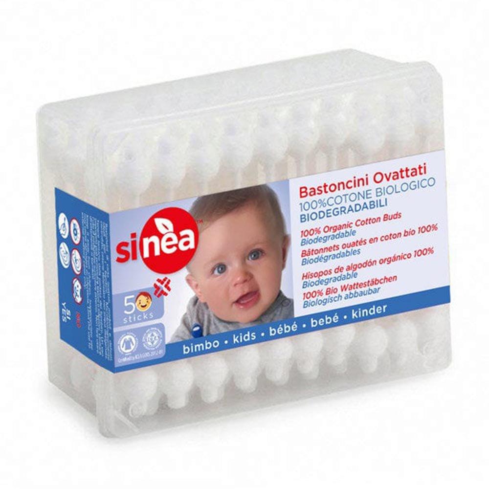 Bastoncini ovattati Baby in cotone biologico
