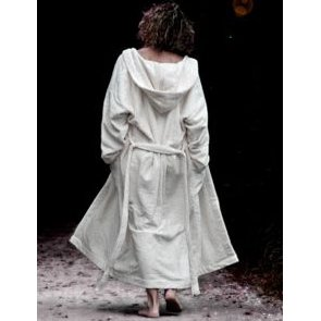 Bathrobe adult in organic cotton