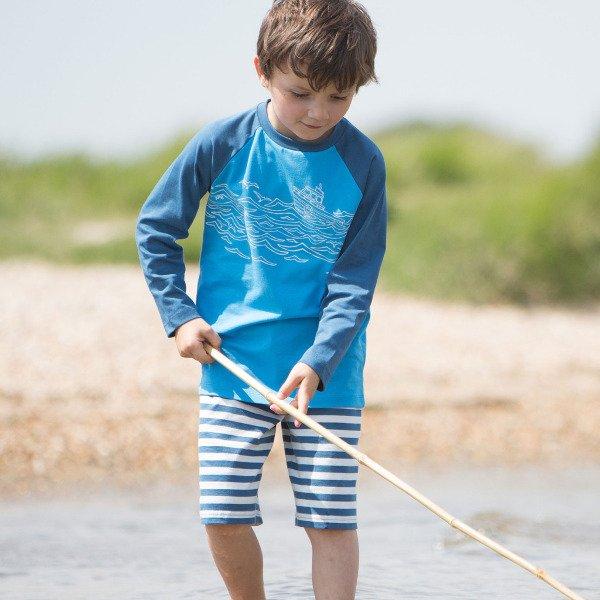 Bermuda nautical shorts boy in organic cotton
