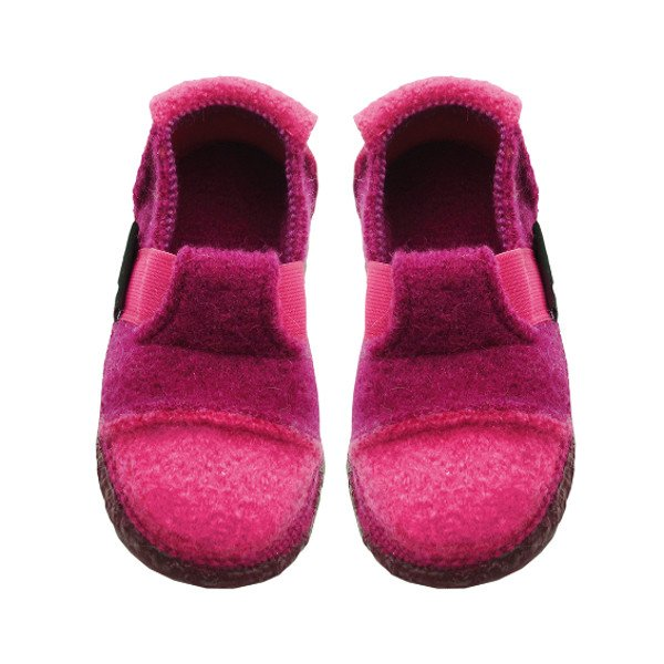 Berry slippers in organic wool