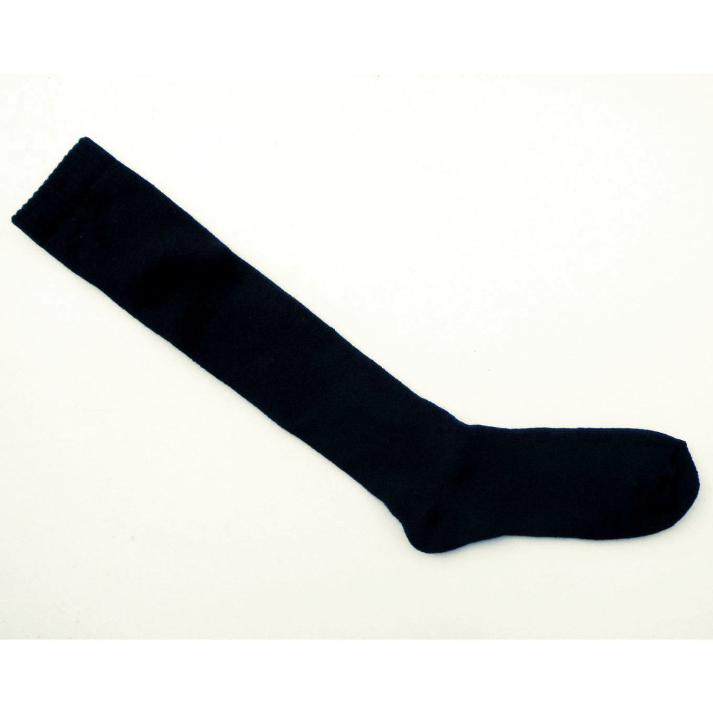 Black Knee high socks in organic cotton terry