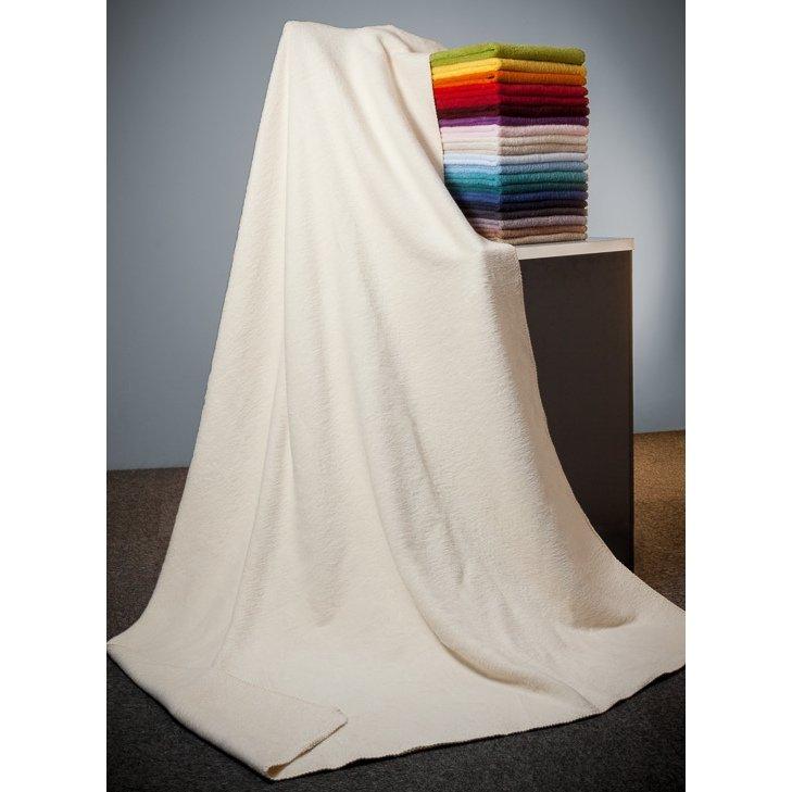 Blanket Anne in natural organic cotton fleece 150x200