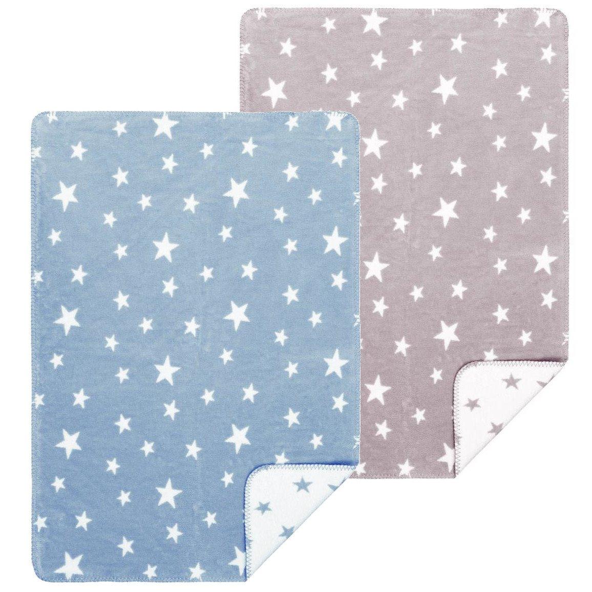 Blanket Star in organic cotton fleece 100x150