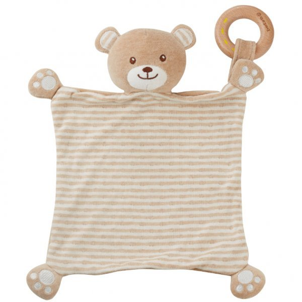 Bear blankie in organic cotton