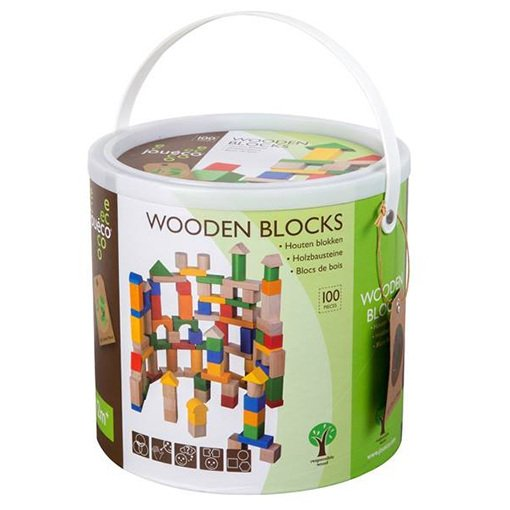 Blocchi da costruzione in legno ecologico 100 pz