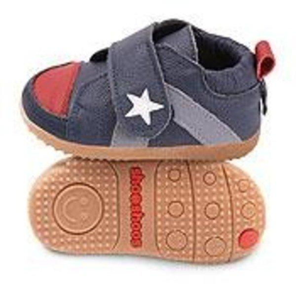 Blue star toddler shoes with flexi sole in rubber
